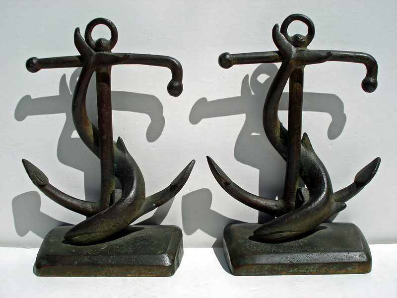 Anchor & Whale Bookends